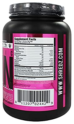 Shredz Supplements - Thermogenic Protein Made for Women Blueberry Muffin