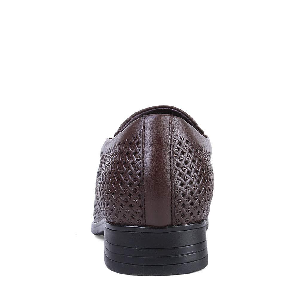 Sunny&Baby Herren Business Oxford Casual Größe des ausgehöhlten Codes British Leder und ausgehöhlten des Formelle Schuhe Abriebfeste (Farbe : Hollow Dark Braun, Größe : 44 EU) - cd8f06