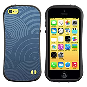 LASTONE PHONE CASE / Suave Silicona Caso Carcasa de Caucho Funda para Apple Iphone 5C / Blue Circles