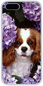 Lilac Puppy Apple iPhone 5 5S Case, iPhone 5 5S Cases Hard Shell Cover Skin Cases