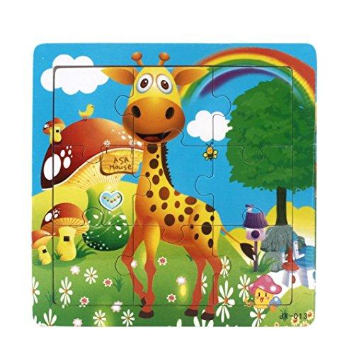 Binmer(TM)Baby Kids Jigsaw Toys Children Education Learning Wooden Puzzles Toys Gift for Child ()