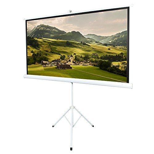 ShowMaven 80 inch 16:9 Matte White Home Theater Projection Projector Screen for Home Theater Outdoor Indoor Using