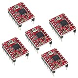 5pcs Stepper Motor Driver A4988 Chip Module with Adjustable Output, Cross-Current Protection and Over-current Shutdown from Optimus Electric