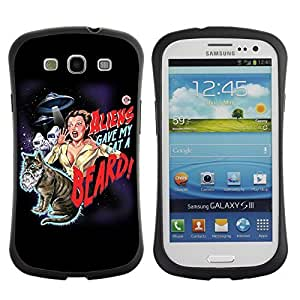 Hybrid Anti-Shock Bumper Case for Samsung Galaxy S3 / Beautiful Deep Blue Eyes wangjiang maoyi by lolosakes
