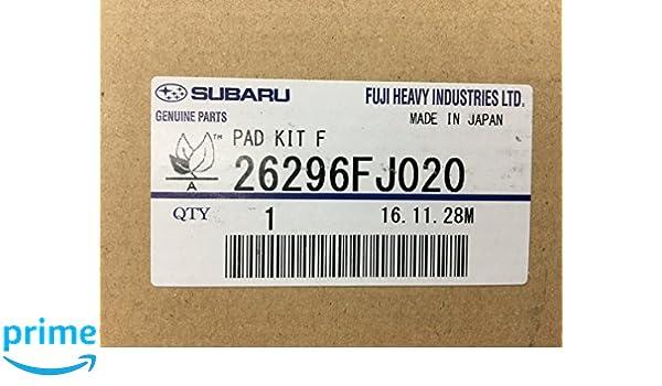 Genuine OEM Subaru Forester Front Brake Pad Set 2015-2017 26296FJ020