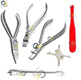 G.S ORTHODONTIC PLIERS AND ORTHO INSTRUMENTS KIT BRACKET GAUGE BENDING ARCHWIRE