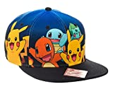 BIOWORLD Pokemon The Original Starters Blue Gradient Snapback Cap