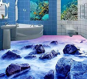 DDBBhome 3D-Tapete für Badezimmer, wasserfest, für Böden, 3D ...