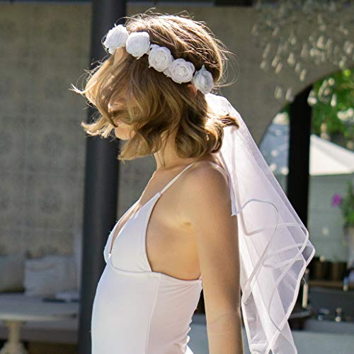 xo, Fetti Bachelorette Party Veil - Boho Flower
