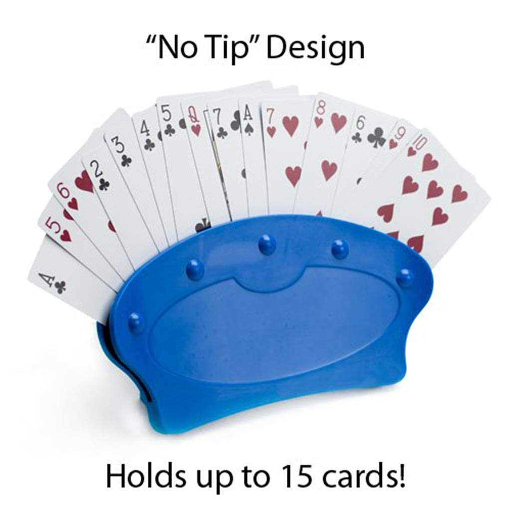 Highlife/_Playing Card Standing,S 4\2PC SImperial Home 1Pack Game Night Playing Card Holders Standing Plastic Pla