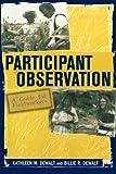 Participant Observation, Billie R. DeWalt, 0759100446