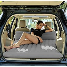 Lameila Car Travel Inflatable Mattress Flocking Air Bed Camping Universal SUV Back Seat Extended Air Couch