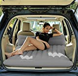 Lameila Car Travel Inflatable Mattress Flocking Air Bed Camping Universal SUV Back Seat