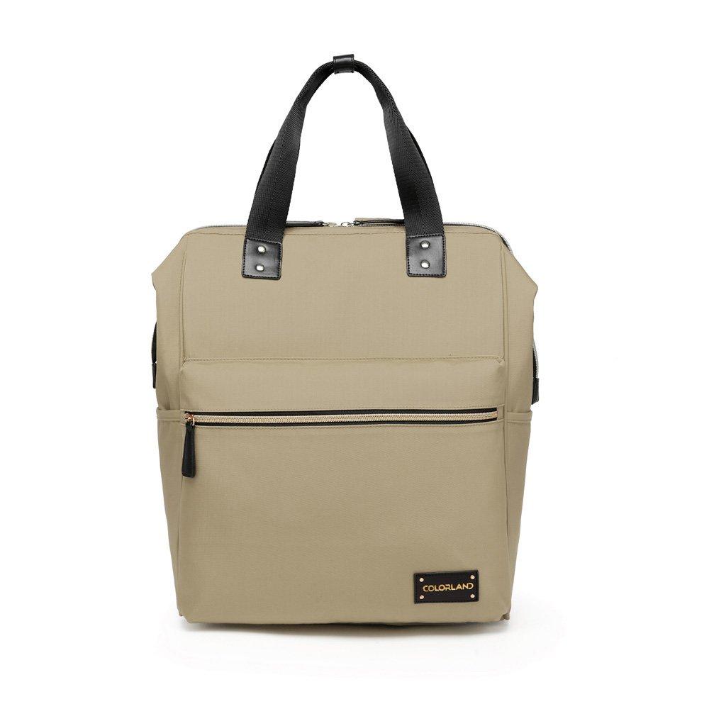 49882d2c4c3 Amazon.com : Colorland Zara Unisex Baby Diaper school Backpack water  resistent (Khaki) : Baby