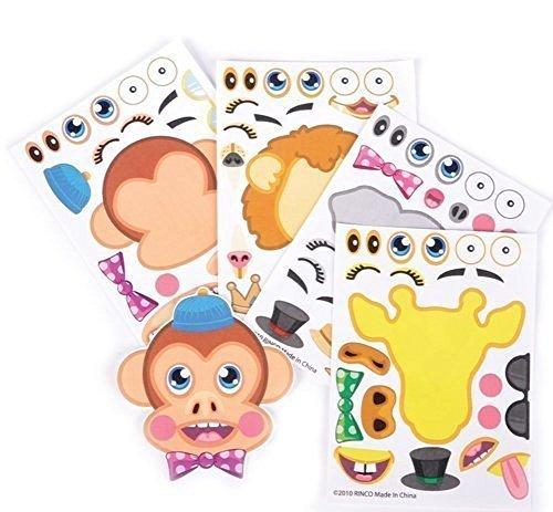 48 Make-a-Zoo Jungle Animal Sticker Sheets