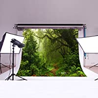 LB 7X5ft Virgin Forest Poly Fabric Photo Backdrops Customized Studio Background Studio Props MH591