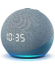 All-new Echo Dot (4th Gen)   Smart speaker with clock and Alexa   Twilight Blue