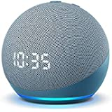 All-new Echo Dot (4th Gen) | Smart speaker with clock and Alexa | Twilight Blue
