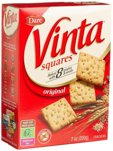 Dare Vinta Squares Crackers, Original, 7-Ounce Boxes (Pack of - Square Scottsdale