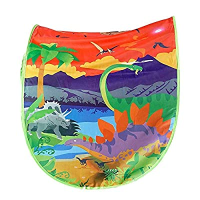 Kids Dream Bed Tent Twin Size - Deluxe Space Adventure & Dinosaur Island & Unicorn & Winter Wonderland Play Tents Boys Girls Pop up Tents Children Game Tent Magical Playhouse Christmas Birthday Gifts: Toys & Games