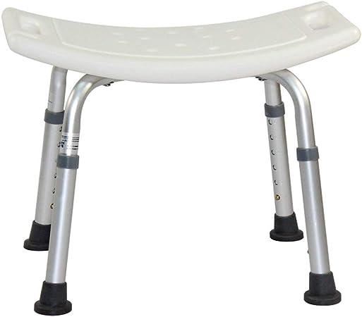 Shower stool Sedia da Doccia Regolabile Seggiolone Antiscivolo Sgabello Sedile Sgabello da Doccia Sgabello da Bagno con braccioli Gambe in Alluminio Resistente per Donne Incinte Anziani disabili