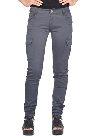 los angeles fine craftsmanship new appearance Slim Skinny Stretch Combat Pants Cargo Trousers