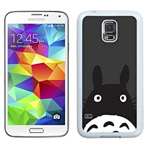NEW Unique Custom Designed Samsung Galaxy S5 I9600 G900a G900v G900p G900t G900w Phone Case With Totoro Minimal Art Illustration_White Phone Case