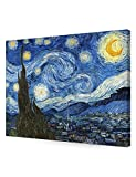 DECORARTS Starry Night by Vincent Van Gogh The Classic Arts Reproduction, Art Giclee Print on Canvas, Stretched Gallery Wrapped, 30