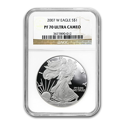 2007 W Proof Silver American Eagle PF-70 NGC 1 OZ PF70 NGC