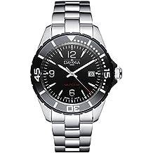 Davosa Swiss Nautic Star 16347215 Analog Men Wrist Watch Steel Band Black Face