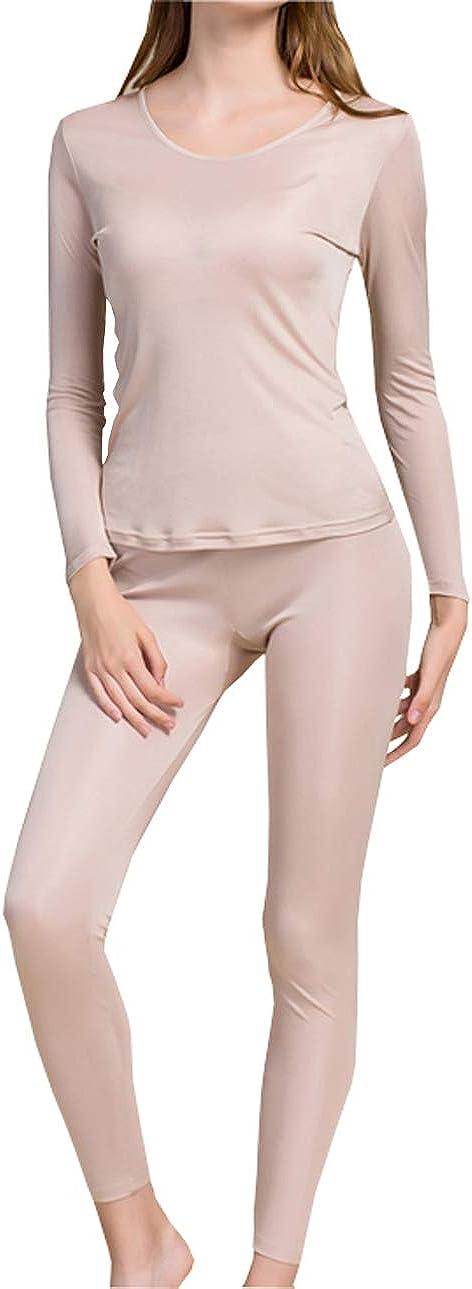 Fashion Silk Women's Silk Long Underwear | Silk Thermal Underwear Sets for Women Mulberry Silk Long Johns at  Women's Clothing store