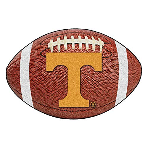 (FANMATS NCAA University of Tennessee Volunteers Nylon Face Football Rug)