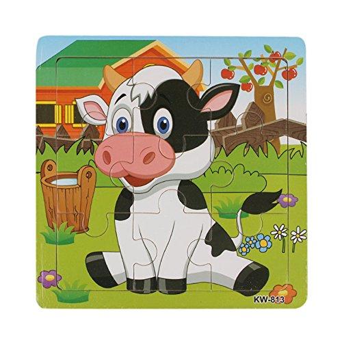 Generic Kind aus Holz Puzzle Spielzeug für Kinder Bildung und lernen (Kuh)