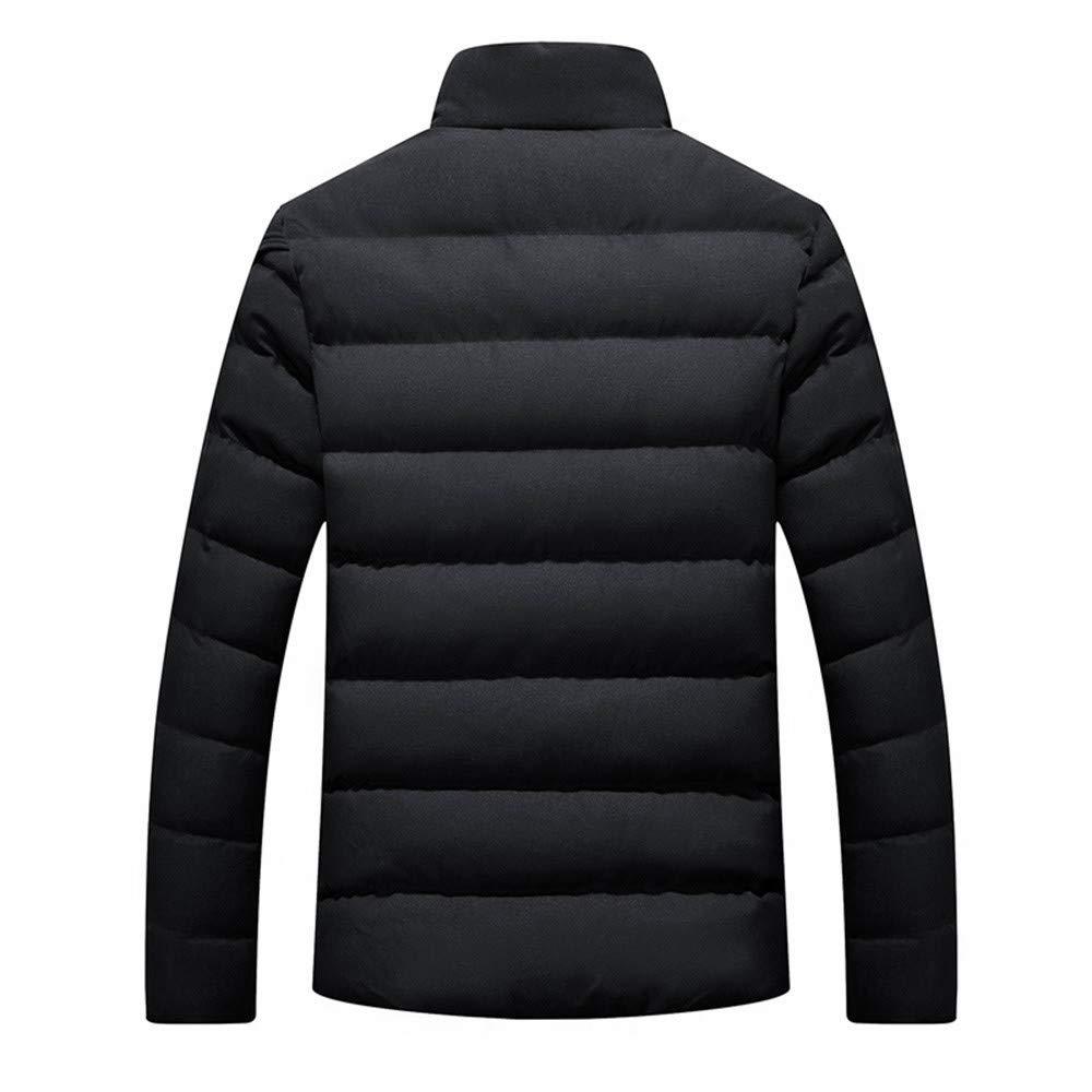 BaZhaHei Uomo Top,Inverno Uomo Piumino Giacca Calda Cappotto a Maniche Lunghe Giacca con Bottoni Casual Top Coat-Nero//Rosso//Grigio//Blu