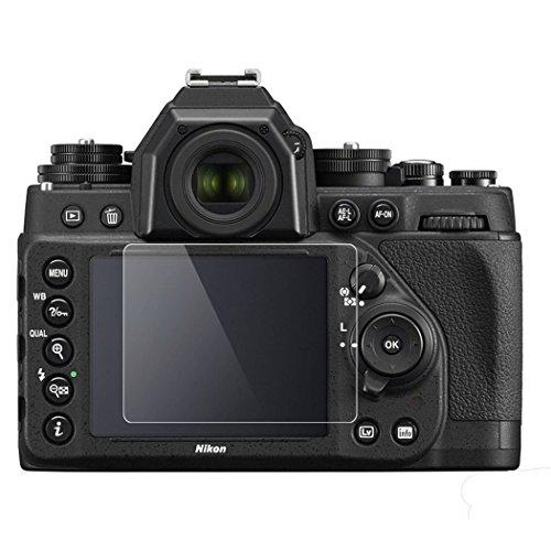 Nikon DF Screen Protector, BolinUS 0.3mm LCD Optical 9H Hard Tempered 2 Pack Anti-scratch Glass Screen Protector Skin Film for Nikon DF Camera