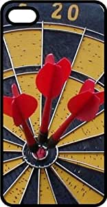 Dart Board With Three In the Bulls Eye Black Rubber Case for Apple iPhone 6 Plus wangjiang maoyi