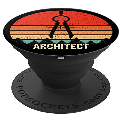 Vintage Retro Architect Funny Architecture Gift PopSockets Grip and Stand for Phones and Tablets