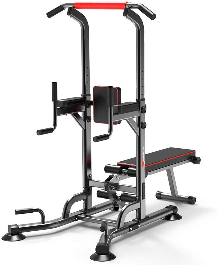 RuiXia - Workout Dip Station for Home Gym, Heavy Duty Adjustable Strength Training Fitness Equipment Multi-Function Exercise Fitness Workout Station