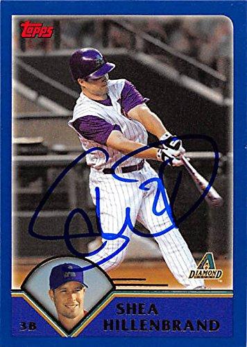 Autograph 191040 Arizona Diamondbacks Ft 2003 Topps No. T84 Shea Hillenbrand Autographed Baseball Card (Shea Autographed Baseball)