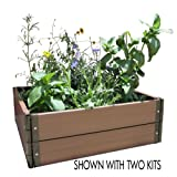 Viagrow Build Your Own 24 in. x 24 in. Composite Raised Garden Bed Kit