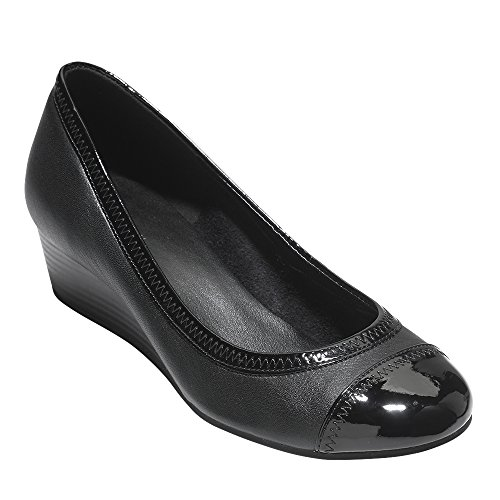 Cole Haan Womens Elsie Cap Toe Wedge 40mm 9.5 Black by Cole Haan