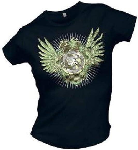 Tokio Hotel - Wing Logo - Camiseta Oficial Mujer - Negro, Small: Amazon.es: Ropa y accesorios