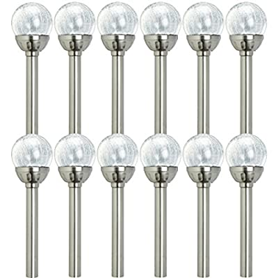 Westinghouse Mini Solar LED Crackle Ball Path Light (12 Pack)