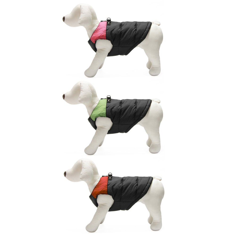 Gooby Padded Cold Weather Vest for Small Dogs with Safe Fur Guard Zipper Closure, Red, Medium by Gooby (Image #6)