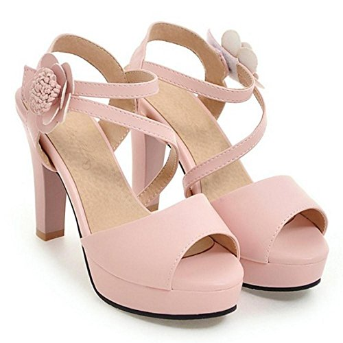 Donna Sandali Alto Toe Pink RAZAMAZA Peep Tacco UFwZq44d0