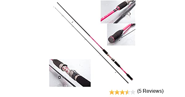 Jenzi Lady Spin - Caña de pescar tipo spinning, 8-25 g, color rosa ...