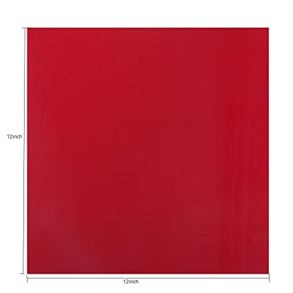 Amazon com: HOHOFILM Clear Red Acrylic Sheet 1/8 Thick