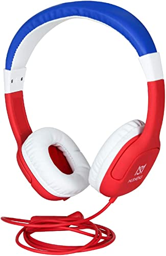 YANHU Kids Headphones,Durable HD Sound Sharing Function Headphones for Children Boys Girls,Volume Limited Sound Protection Safe Foldable Headset for School PC Cellphone