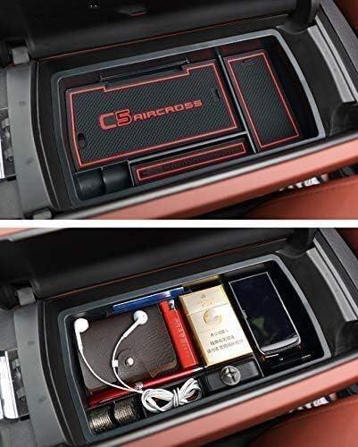 Consola central de almacenamiento Caja for Citroen C5 Aircross 2017 2018 2019 Accesorios for el coche bandeja frontal interior de la guantera Consola Apoyabrazos De centro organizador con Antideslizan