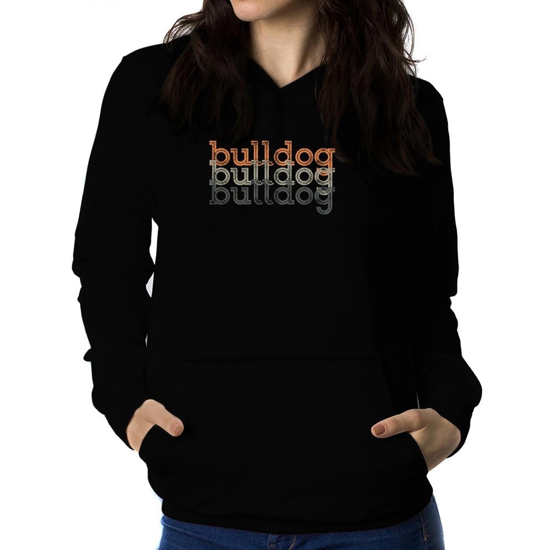Bulldog repeat retro Women Hoodie